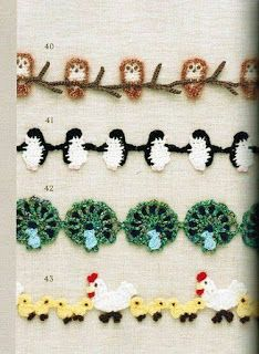 If you looking for a great border for either your crochet or knitting project, check this interesting pattern out. When you see the tutorial you will see that you will use both the knitting needle and crochet hook to work on the the wavy border. Crochet Boarders, Crochet Motifs, Crochet Trim, Knit Or Crochet, Crochet Crafts, Yarn Crafts, Crochet Stitches, Crochet Projects, Crochet Patterns