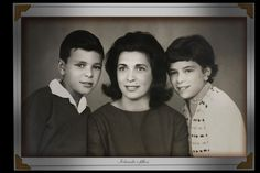 Iolanda Pantuzo Tofani e filhos Marquinhos e Marisa Tofani.