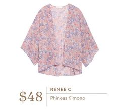 Stitch Fix Wans: Renee C Phineas Kimono #stitchfix #kimono. SF, I only like SOME florals, but this pattern is very pretty.