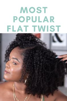 This style is so easy once you get the hand of it and the curl definition it gives is amazing! The video also shows how she detangles her hair using the Naturally Curly Hairbrush by the sponsor for today's video Tangle Teezer Flat Twist Out, Twist Outs, Hairbrush, African American Hairstyles, Prom Hairstyles, Most Popular, Hair Videos, Naturally Curly, Black Girls