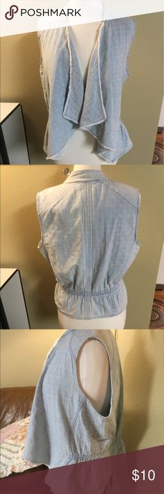 Anthro brand Hei Hei Vintage Vest Vintage Denim Lightweight Vest! Flattering and Feminine. It's soft with a worn in feel and look. Adorable! Reposh. Anthropologie Tops