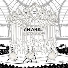 "2,443 Likes, 22 Comments - Megan Hess (@meganhess_official) on Instagram: ""The CHANEL Carousel! One of my favorite illustrations in my new book PARIS! #MeganHessParis"""