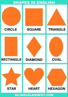 Learning shapes and their names in English. #ESOL