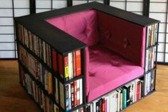 ChairBookshelfforList | Just Say No to a Boring Bookshelf. Here Are 14 Extraordinary Bookshelves.