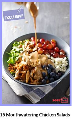 Mouthwatering Chicken Salads.There are so many ways to prepare chicken ...