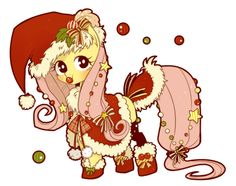 Christmas Fluttershy(◍′ω‵◍)