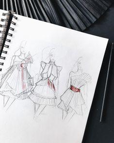 Fashion Design Drawing Fashion illustration by fashion sketch, drawing, art Fashion Design Sketchbook, Fashion Design Portfolio, Fashion Design Drawings, Fashion Sketches, Drawing Fashion, Fashion Illustration Dresses, Fashion Illustrations, Design Illustrations, Model Sketch