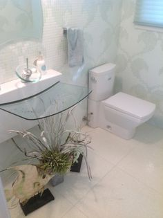 This is a powder room for the rich a pitched glass tray to catch the water Kept clean with rog3 cleaner is recommended