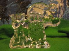 Sweden Vintage Kosta Boda art glass Christmas Santa Candle Holder  #KostaBoda