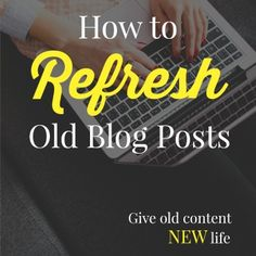 Blog post at The Deliberate Mom :   Ever since I switched from Blogger to WordPress, I've been refreshing blog posts. It's a tedious task but it's critical to have attracti[..]