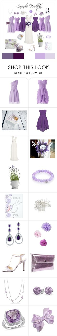"""""""Lavender wedding"""" by marzenakedra ❤ liked on Polyvore featuring Lanvin, Potting Shed Creations, Sydney Evan, Wedding Belles New York, Bling Jewelry, Josette, Brian Atwood, David Yurman and Ice"""