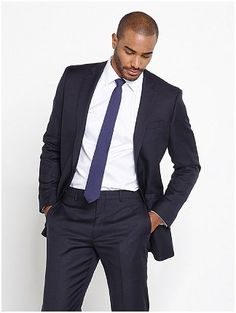 Black suit blue tie for my groom. | Wedding Style | Pinterest