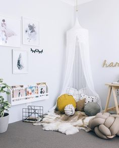 "Lately, I've been loving this ""goals"" expression, very popular with the kids, ha! Joke aside, Kyree Harvey's home office is goals, and I didn't mention her uber dreamy relaxing pillow nook… The space is a breath of fresh air, neutral Scandinavian style mixed with playful details and a stylish vibe. Kyree's aim was to be able …"