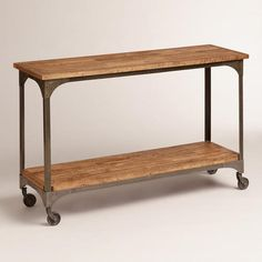 One of my favorite discoveries at WorldMarket.com: Aiden Console Table