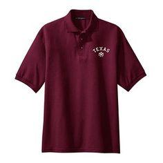 Texas A&M Aggies NCAA Small Arch Logo Silk Touch Maroon Sport Polo (X Large)