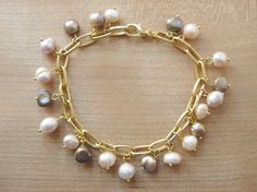 Freshwater Pearl Charm Bracelet - Luxe DIY - How Did You Make This?