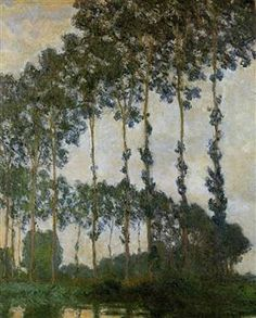 Poplars at Giverny - Claude Monet--1891