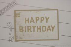 Stempelmessi: Happy Birthday auf DSP Holzdekor, #GDP103, Stampin up: DSP Holzdekor, Thinlits Beeindruckende Buchstaben, Mini-Leckereientüte
