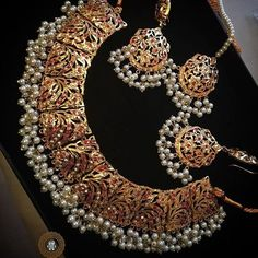 Gold Jewelry Can't believe how quickly these have gone new stock arriving soon. Order yours now. Indian Jewelry Sets, Indian Wedding Jewelry, Bridal Jewelry, India Jewelry, Pakistani Jewelry, Hyderabadi Jewelry, Gold Jewellery Design, Gold Jewelry, Handmade Jewellery
