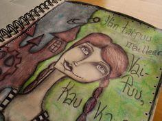 """Art Journal by *silkku* """"await"""" silkkus.blogspot.fi"""