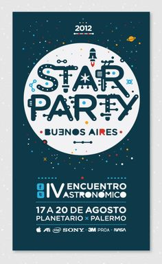 Star Party by Federico Maksimiuk, via Behance