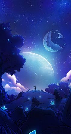 Falling stars by SandraCharlet.deviantart.com on @DeviantArt