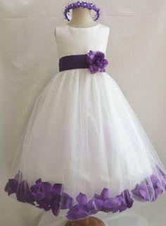 Rose Petal Dress Ivory Flower Girl Dress