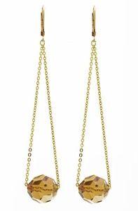 Chain Earrings with single bead threaded.