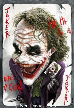 The Joker Heath Ledger Caricature