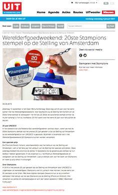 Aandacht voor de 20ste stempel op website UIT in Noord-Holland