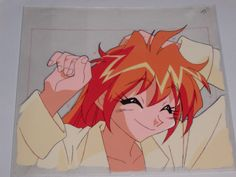 Slayers Try Hand-painted Production Anime Cel - Lina In Pajamas + Sketch
