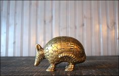 solid brass armadillo paper weight