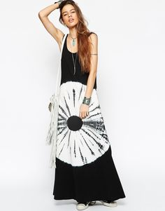 Image 1 ofASOS Tie Dye Maxi Dress with Low Back