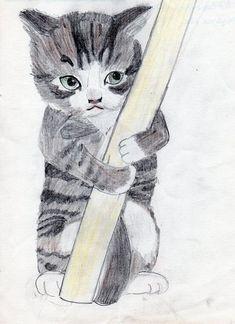 Katze, Zeichnung