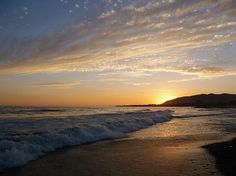 Sunset at San Buenaventura State Beach, Oxnard, California