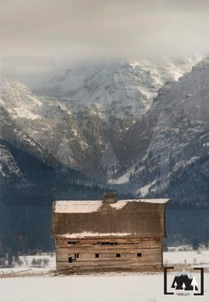 North Crow Canyon & The Famous Barn In Ronan, Montana   © 2013 Cordell Hardy
