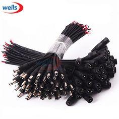 Neueste 5-50 stücke DC female/männlich 5,5x2,1 Stecker Kabel Draht verwendung Für Cctv-kamera 3528 5050 Led-streifen Licht