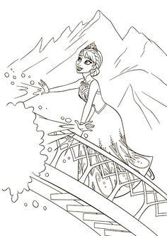 アナと雪の女王(FROZEN)ぬりえ・2  SISTERS  FOREVER - ミツキ・MA・ウスの小さな世界