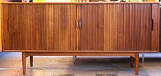 Vintage mid century modern solid wood scheibe folding bar for Chinese furniture houston tx