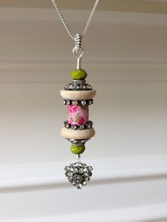 Spooled Rotten No. 16 - Spring Morning - a pink roses spoolie that is beautiful, fresh, and lovely! by MadeByJimmisDaughter on Etsy