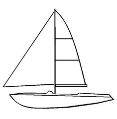 Cute Sailboat coloring page for kids, transportation