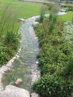 A superb read on more regarding Creekside Landscaping hof, Garden Stream, Rain Garden, Water Garden, Dream Garden, Backyard Drainage, Landscape Drainage, Backyard Landscaping, Landscaping Ideas, Garden Landscape Design