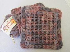Miss Abigail's Hope Chest: Tutorial: Free pattern for Brown Waffle Weave Hot Pads