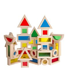 Take a look at this Rainbow Block Set by Guidecraft on #zulily today!