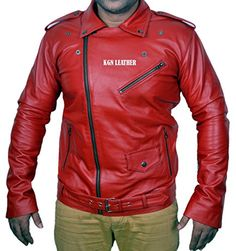 Leather Blazer, Red Leather, Leather Jackets, Motorcycle Jacket, Indian, Amazon, Stuff To Buy, Men, Fashion