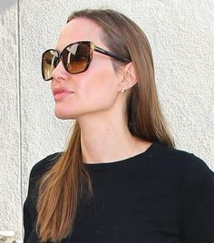 Angelina Jolie Wearing Tom Ford FT0228 LYDIA Sunglasses at LAX Airport in Los Angeles http://pict.com/p/BHF