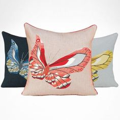 Butterfly French Tapestry Pillow | Belami | Yves Delorme