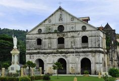 The Church of San Pedro, a fine example of Jesuit colonial architecture of the 18th century, in Loboc, Bohol, Philippines, Southeast Asia, Asia