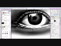 How to Draw A Realistic Eye with Gimp TUTORIAL