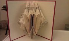 Folded Book Art  Double Heart  Made to order by MissArtsyCraftsy, $18.00